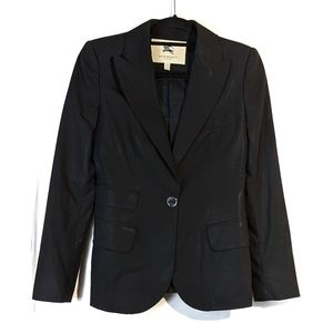 Burberry Black Wool Blazer Size 4